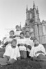 Alter boys outside Wicklow Church - 1980s/90s