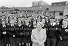 Minister for Education, Niamh Breathnach is pictured with students when she officially opened Avondale Community College, Rathdrum on the 6th of May 1994