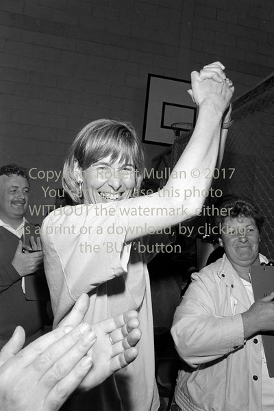 Liz McManus at an election count in Wicklow - early 1990s