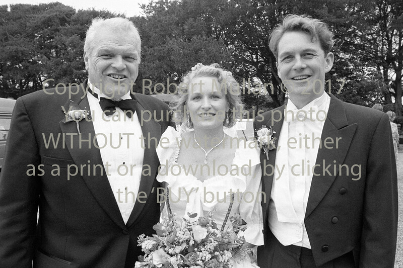 Actor Brian Denehy at his daughter Elizabeth's wedding to James Lancaster in Redcross - 1980s/90s