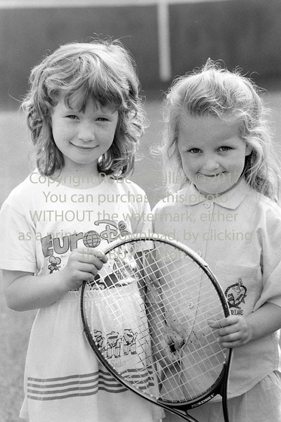 Two young girls at Wicklow Tennis Club - 1980s/90s