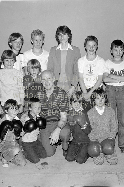 At Wicklow Boxing Club.  Circa 1980