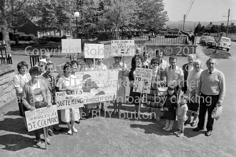 Protest outside St Colman's Hospital, Rathdrum.   Date unknown