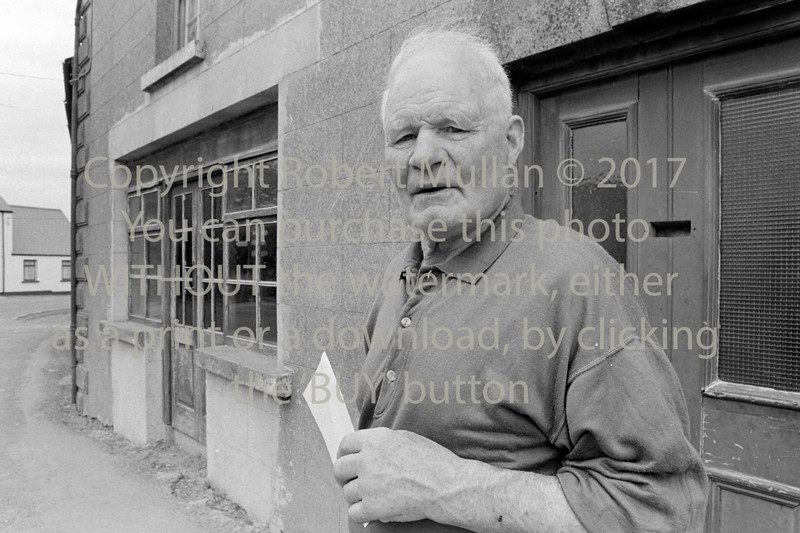 Mick Cullen outside his pub in Redcross - circa early 1990s