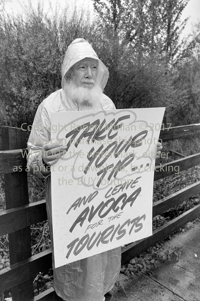 Protest against proposed dump in Avoca - date unknown