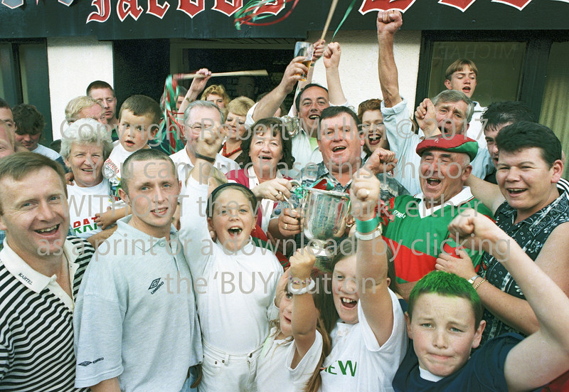 Rathnew supporters celebrating - 1990s