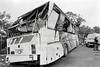 The scene of an accident involving a CIE bus, near Jack White's pub on the Dublin - Rosslare route, on the 1st July 1991