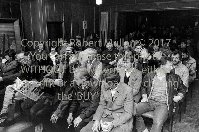 At the Veha workers meeting 1985