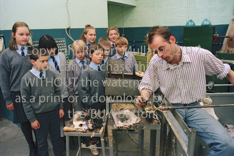 A glass blowing demonstration at Wicklow Enterprise Centre - 1980s/90s
