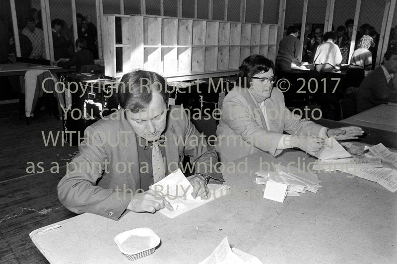 Dorothy Byrne at the Election count in Wicklow - date unknown