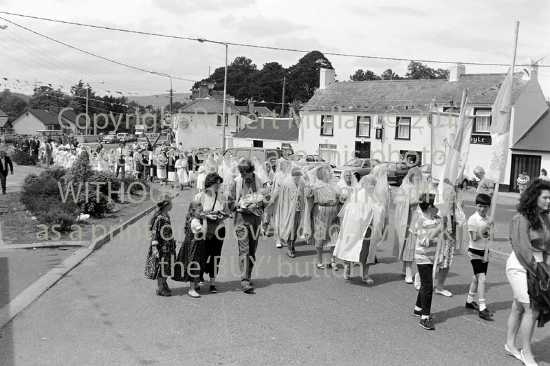 At the Corpus Christi  procession in Rathnew - early 1990s