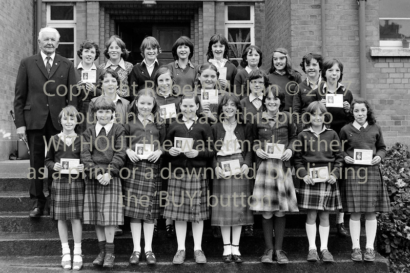 Group at the Holy Rosary School.  Date unknown