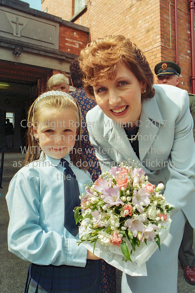 President Mary McAleese on her visit to Wicklow.  Circa 1990s