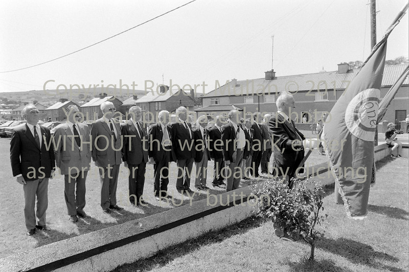 ONE members taking part in a ceremony at Wicklow - 1980s/90s