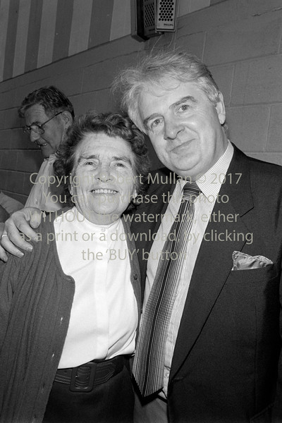 Joe Jacob at an election count in Wicklow - 1980s/90s