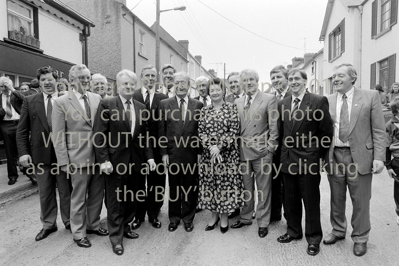 Charles Haughey with Fianna Fail members when he visited Rathdrum - 1980s/90s