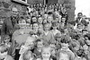 Evelyn Kinsella, Fr Freeney pictured with school children at Rathnew - - 1980s/90s