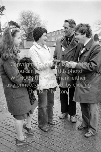 Dennis Teevan canvassing in Wicklow.  Date unknown
