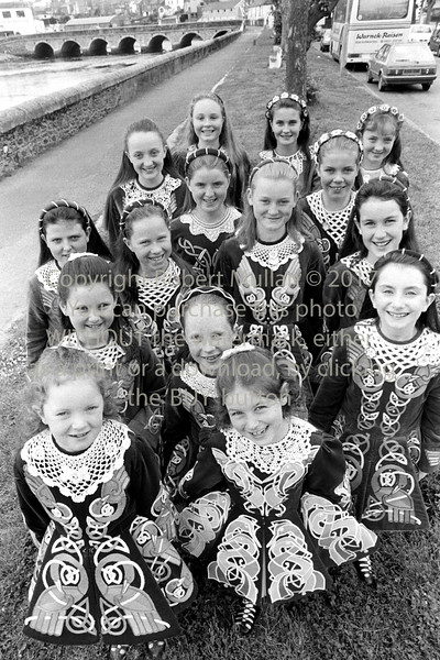 Traditional Irish dancers pictured in Wicklow - 1980s/90s