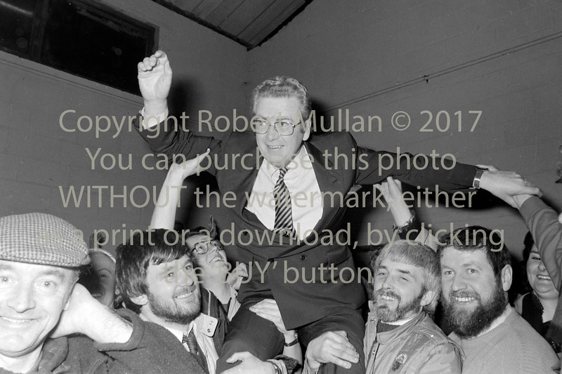 Liam Kavanagh at an election count - 1980s/90s