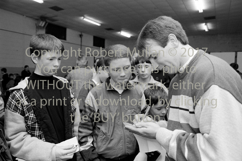 D J Carey signing autographs at St Patrick's GAA Club, Wicklow - 1980s/90s