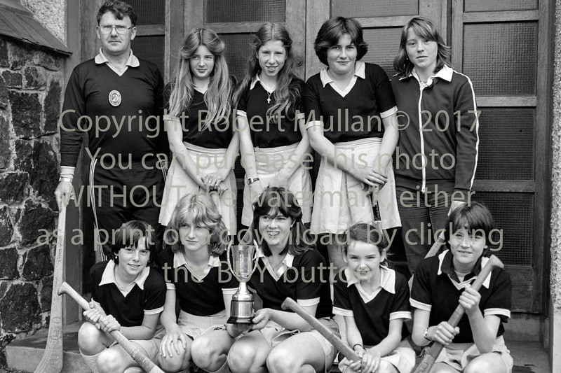 Camogie winners from the Abbey Community College, Wicklow.  Date unknown