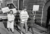 Picketing Wicklow Court House.  Date unknown