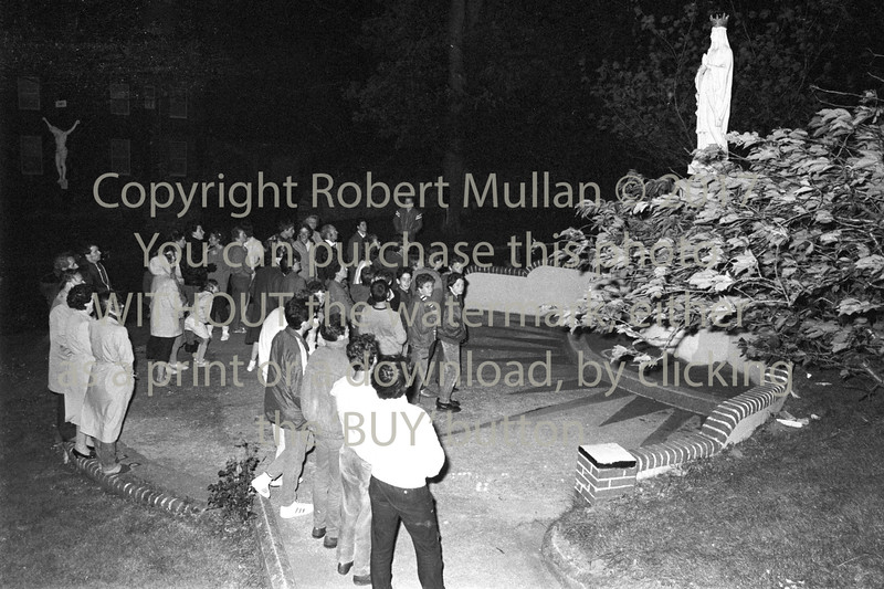 Waiting for the statue to move in Wicklow - 1985
