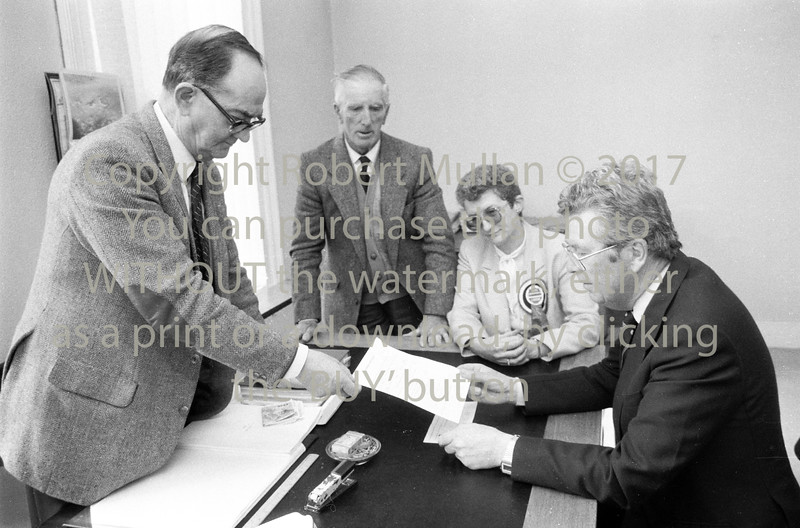 Liam Kavanagh registering as a candidate with Wicklow County Registrar - date unknown