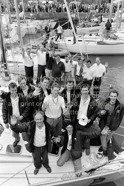 Group pictured at the Round Ireland Yacht Race in Wicklow - 1980s/90s