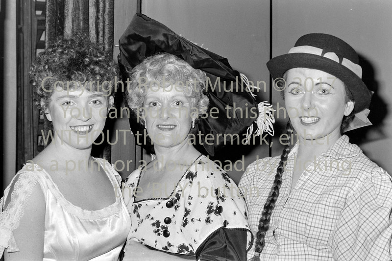 At one of Wicklow Musical Society's productions - 1980s/90s