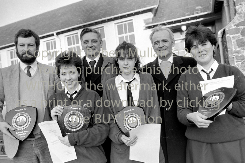Prizewinners at Abbey Community College, Wicklow - 1986