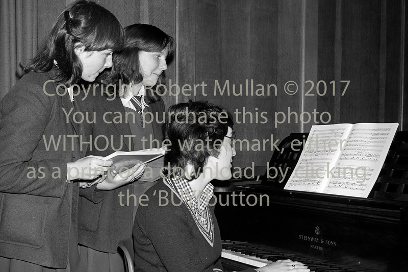 A rehersal at the Dominican College, Wicklow.  Date unknown