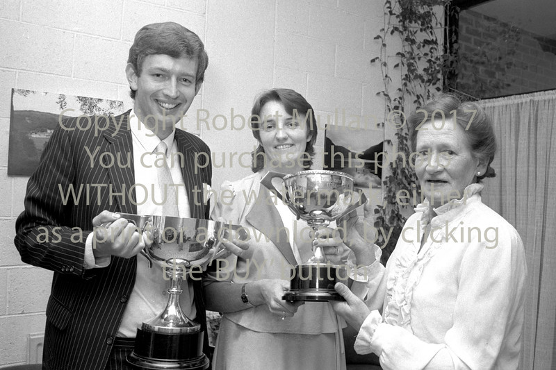 Gerard Keane, Geraldine Wynne and Maureen Gilletlie at Wicklow Tennis Club's Dinner - date unknown