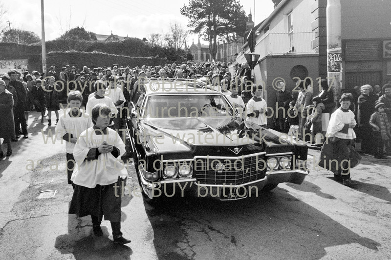 A huge funeral at Wicklow - 1980s/90s