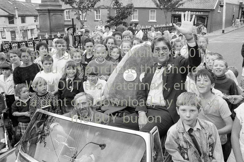 Actor Alan Stanford driven by Michael Greenwood when Alan visited Wicklow - 1980s/90s
