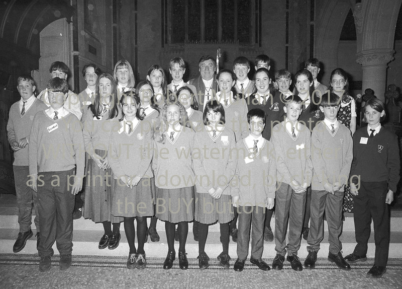 Confirmation group in the Church of Ireland, Wicklow - 1980s/90s