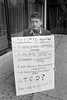 John Hurt protesting at OPW's plans for Djouce Wood,  outside Wicklow County Buildings in 1992