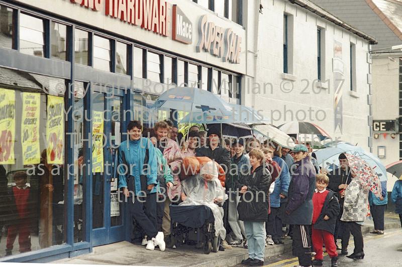 Queuing for bargains in Rathdrum - circa 1990s