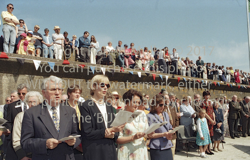 Wicklow RNLI dedication ceremony.   Circa 1995