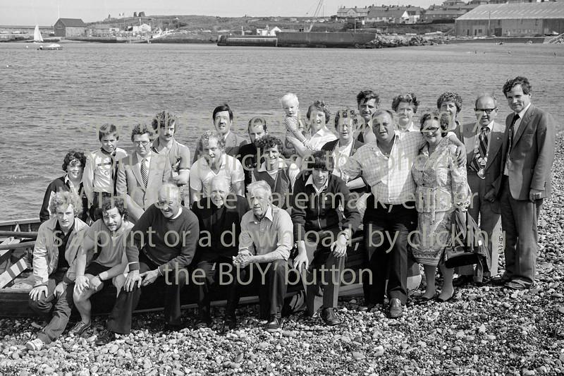 Wicklow Rowing Club members & friends.  Circa 1979