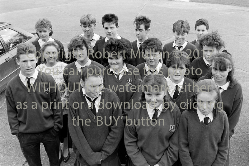 Group of students from Abbey Community College - 1980s/90s