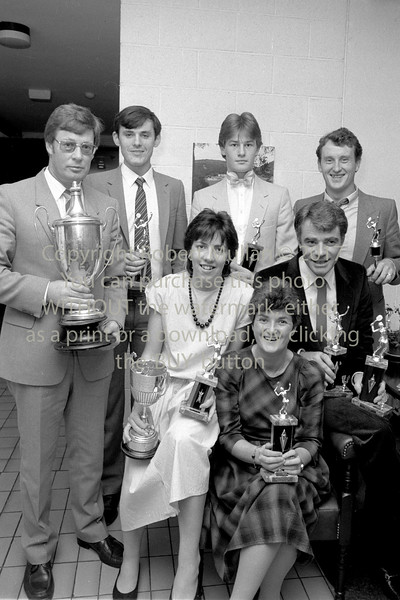 Prizewinners at Wicklow Tennis Club's Dinner - 1980s/90s