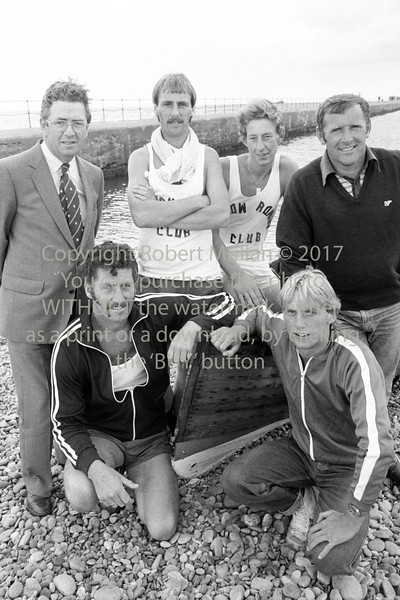 Liam Kavanagh with these Wicklow rowers - 1980s/90s