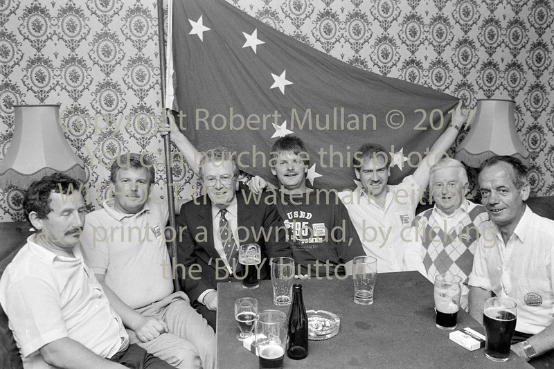 Liam Kavanagh with supporters.  Date unknown