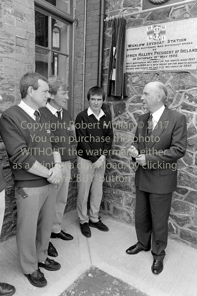 President Patrick Hillery at Wicklow RNLI - 1990