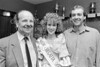 Bob Jackson, Fionnuala Fidgeon and Robert Doyle at The Regatta Queen Ball - late 1980s