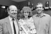 Bob Jackson, Fionnuala Fidgeon and Robert Doyle at The Regatta Queen Ball - late 1980s