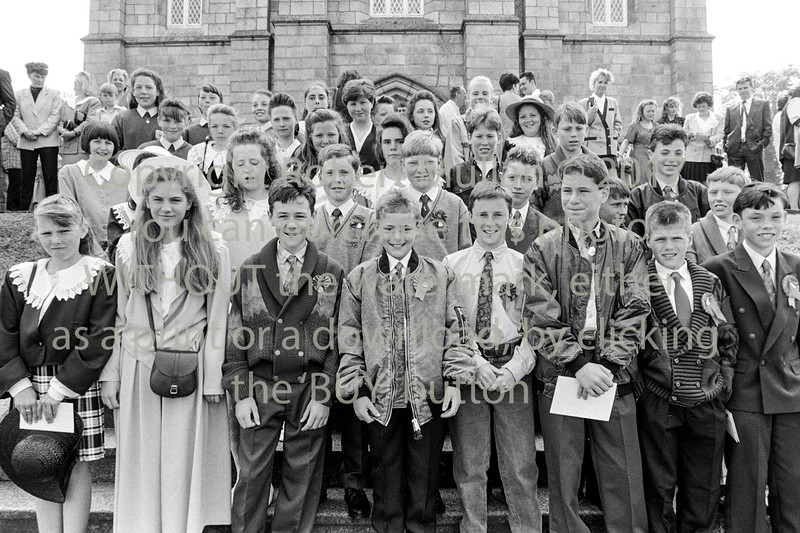 Confirmation group at Wicklow Church - 1980s/90s