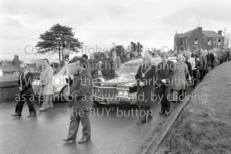 Huge funeral in Wicklow - circa mid 1980s